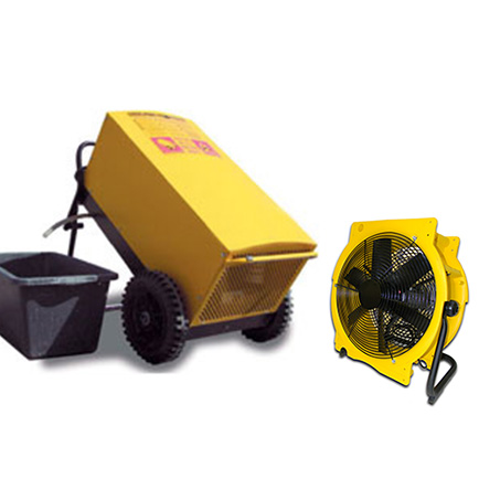 Bautrockner TTK 600 + Ventilator
